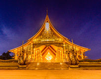 Golden-shining of Wat Pu Praw Temple royalty free stock image