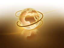 Golden shining world Royalty Free Stock Photography