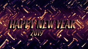 Golden shiny festive New year card. Glowing background with bokeh style for seasonal greetings. royalty free stock photo