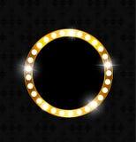 Golden Shiny Frame Vector Illustration Royalty Free Stock Images