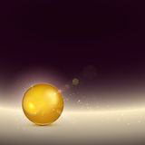 Golden shiny glow sphere. Vector Stock Image