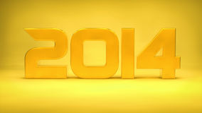 2014 golden Stock Image