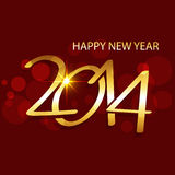 Golden shiny happy new year design. Vector golden creative happy new year 2014 illustration Royalty Free Stock Photos