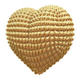 Golden, shiny heart with knob surface Stock Image
