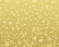Golden shiny hearts confetti Valentine's day Royalty Free Stock Photos