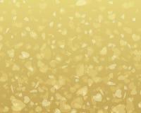 Golden shiny hearts confetti Valentine's day Royalty Free Stock Photos