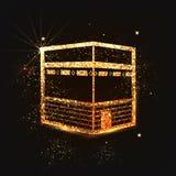 Golden shiny Kaaba, Mekkah. Stock Photos