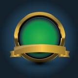 Golden shiny modern elements. Golden web buttons Royalty Free Stock Photos
