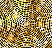 Golden shiny mosaic in disco ball style. Vector gold disco lights background. Abstract background.  royalty free illustration