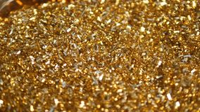 Golden Shiny , Perfect for Christmas, New Year or any other Holidays Background stock video footage