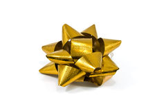 Golden Shiny ribbon Stock Photo