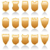 Golden shiny shields Stock Image