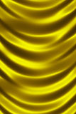 Golden shiny silk curtain close up Stock Photo