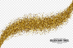 Golden Shiny Tinsel Square Particles Vector Background Royalty Free Stock Photography
