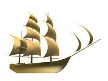 Golden ship Stock Image