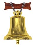 Golden ship's bell Royalty Free Stock Images
