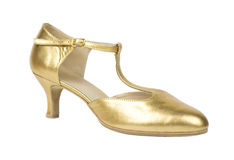 Golden shoe Royalty Free Stock Photo