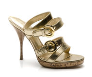 Golden shoe Royalty Free Stock Photos