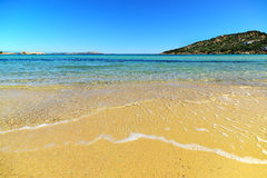 Golden shore in Cala Battistoni Stock Photo