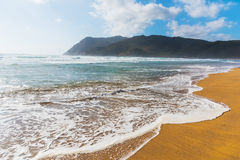 Golden shore in Porto Ferro beach Royalty Free Stock Photo