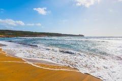 Golden shore in Porto Ferro Stock Photos