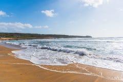 Golden shore in Porto Ferro Stock Photo