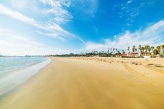 Golden shore in Santa Barbara Royalty Free Stock Photography