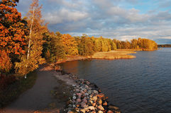 Golden Shores. Picturesque Mustikkamaa island in Helsinki royalty free stock photos