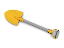 Golden shovel Stock Image
