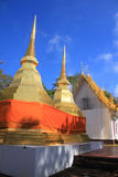 Golden shrine. At Pra Tad Doi Tung temple , Chiangrai  north of Thailand Stock Photography