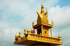 Golden shrine in cambodia Stock Image