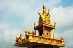 Golden shrine in cambodia Stock Image
