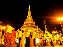 Golden Shwedagon pagoda, Yangon, Myanmar Stock Photography
