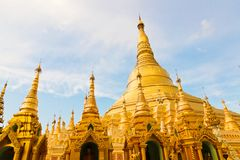 Golden Shwedagon temple Stock Photo