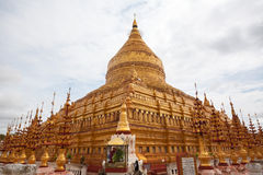 The golden Shwezigon Pagoda Royalty Free Stock Photography