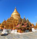 Golden Shwezigon Pagoda in Bagan Myanmar Stock Image