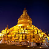 Golden Shwezigon Pagoda in Myanmar Royalty Free Stock Photography