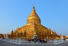 Golden Shwezigon Paya in Bagan, Myanmar Burma Stock Photography