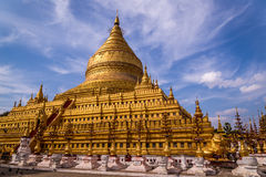 Golden Shwezigon Paya in Bagan, Myanmar. Golden Shwezigon Pagoda in Bagan, Burma (Myanmar Stock Images