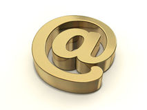Golden At-sign Royalty Free Stock Images
