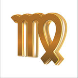 Golden sign Virgo Royalty Free Stock Photo