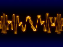 Golden Sign Waves Royalty Free Stock Photography