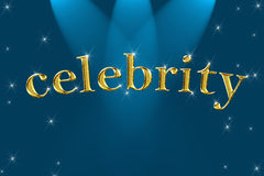 Golden sign word celebrity Royalty Free Stock Images