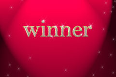 Golden sign, written word winner royalty free stock photos