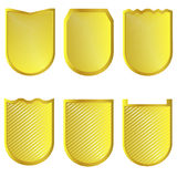 Golden signs set Royalty Free Stock Image