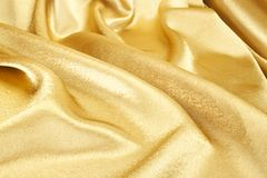 Golden silk Royalty Free Stock Photos