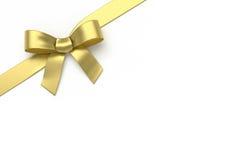 Golden silk bow Stock Photos