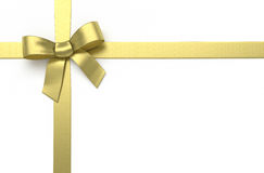 Golden silk bow Stock Photos