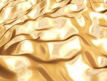 Golden silk cloth. Abstract waving golden silk cloth Royalty Free Stock Image