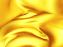 Golden silk cloth glossy waves luxury background Stock Image